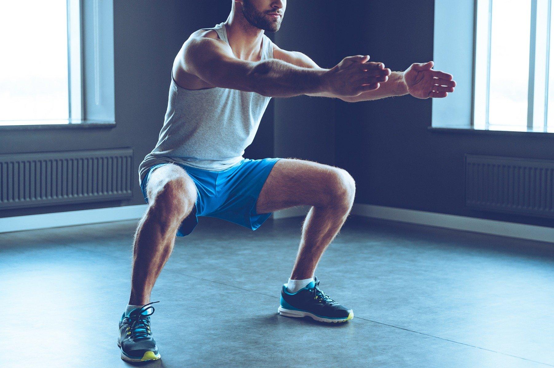 térdízület edzés