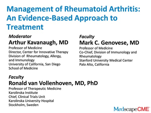 rheumatoid arthritis medscape