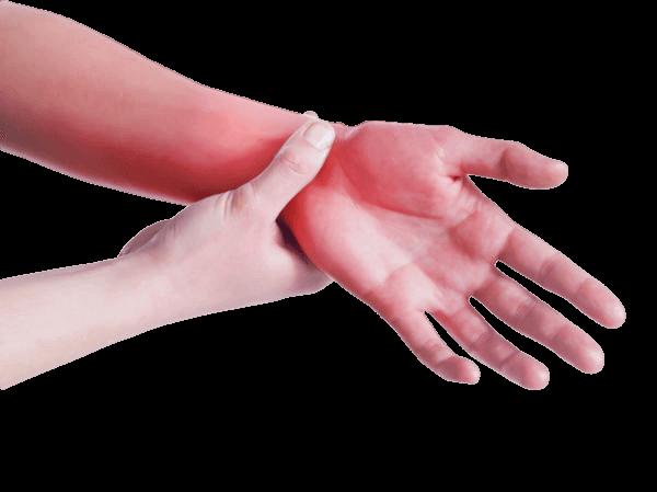 csukló mozgásának fájdalma)