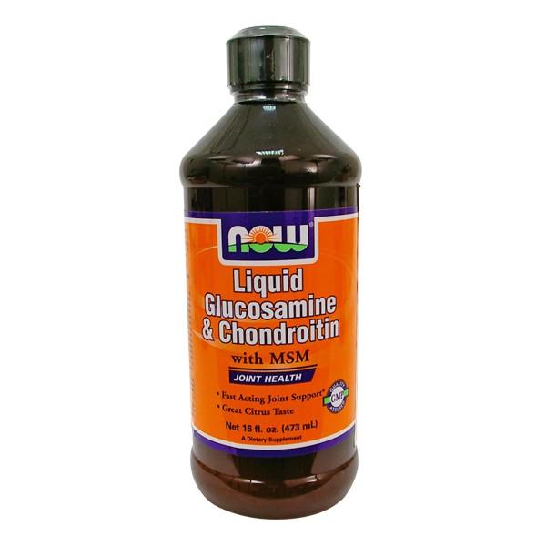 NOW Liquid Glucosamine / Chondroitin MSM 473 ml