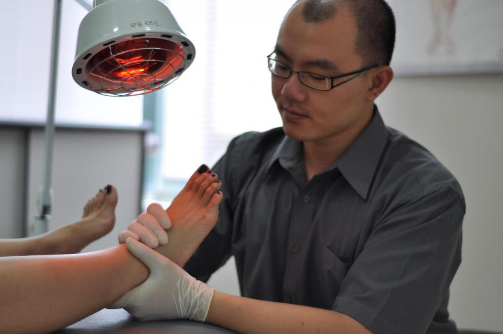 ízületek infravörös sugárzással történő kezelése)