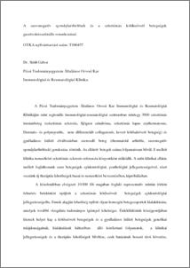 kötőszövet-betegség szűrővizsgálata 000723)