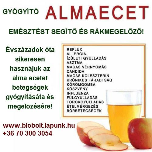 almaecet ízületekhez)