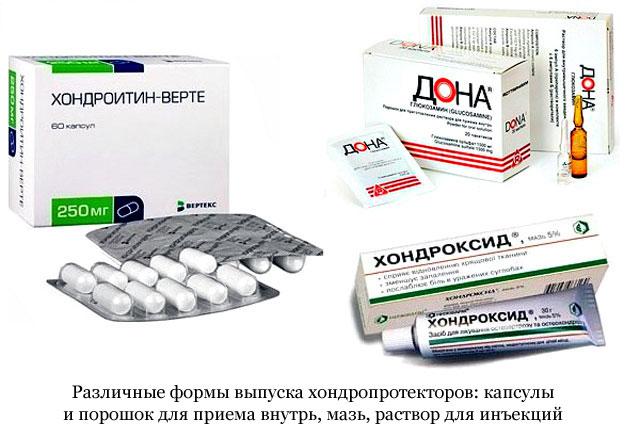 készítmények együttes kezelésre szolgáló kondroprotektorok számára