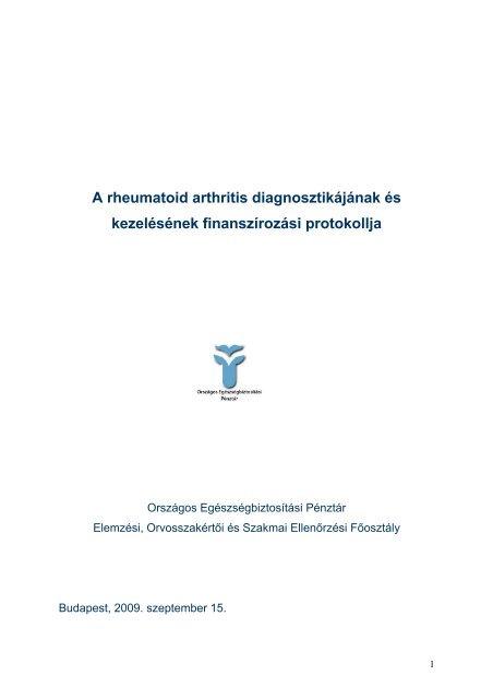 seronegatív rheumatoid arthritis hogyan kell kezelni)