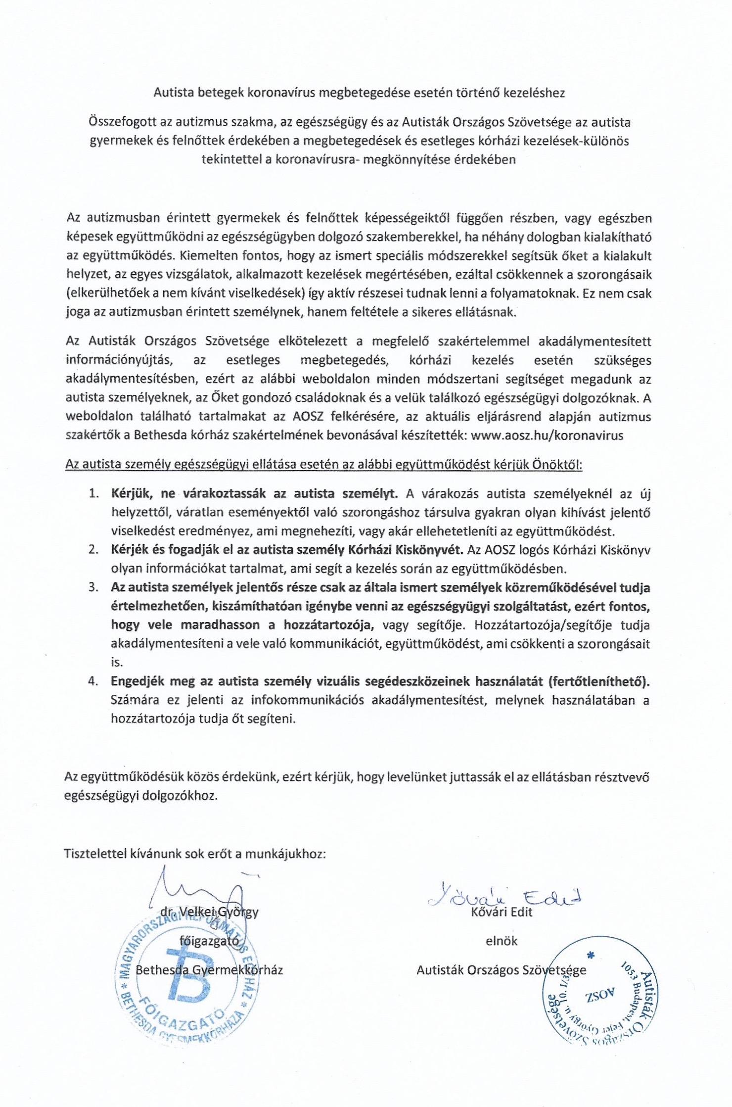 közös kezelési rend)