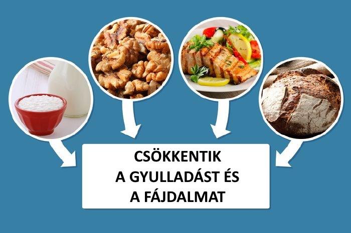 milyen ételek enyhítik az ízületi fájdalmakat)