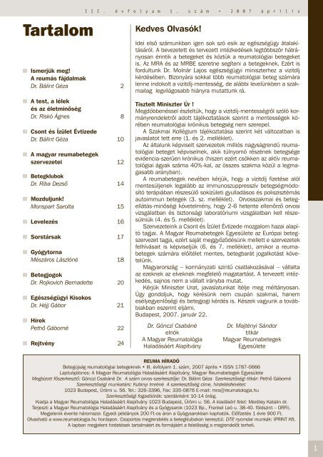 reumatológus tanácsai ízületi fájdalmak esetén)